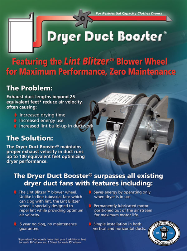 Volko draft inducers LB-1. LB1 Lint Blitzer dryer duct booster.  Ventilation solutions for your home and HVAC systems.